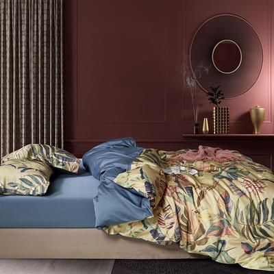 2020新款60S数码印花长绒棉 1.8m(6英尺)床 巴巴拉 黄