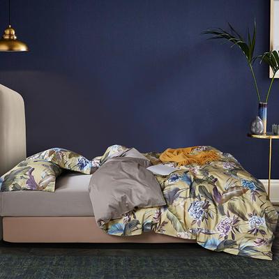 2020新款60S数码印花长绒棉 1.8m(6英尺)床 坎迪丝 黄