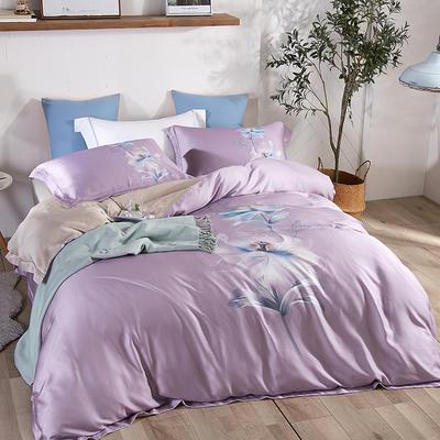 2020新款60S莱赛尔天丝 1.5m(5英尺)床 静香 紫