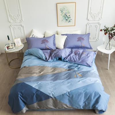 2020新款40匹马棉法式大版系列 1.5m(5英尺)床 城市之旅-蓝