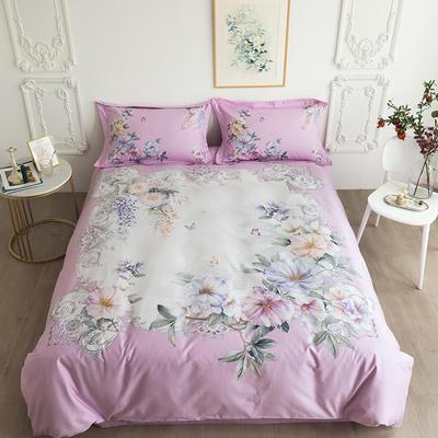 2020新款40匹马棉法式大版系列 1.5m(5英尺)床 花忆如-粉