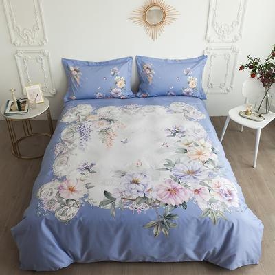 2020新款40匹马棉法式大版系列 1.5m(5英尺)床 花忆如-紫