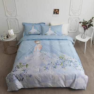 2020新款40匹马棉法式大版系列 1.5m(5英尺)床 一生之约