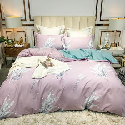 2020新款40匹马棉活力炫彩系列 1.5m(5英尺)床 温情花语 紫
