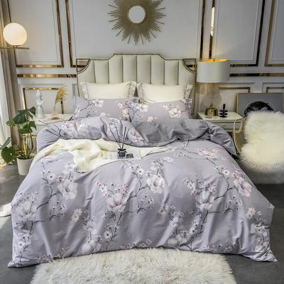 2020新款40匹马棉活力炫彩系列 1.8m(6英尺)床 芬芳枝头-灰
