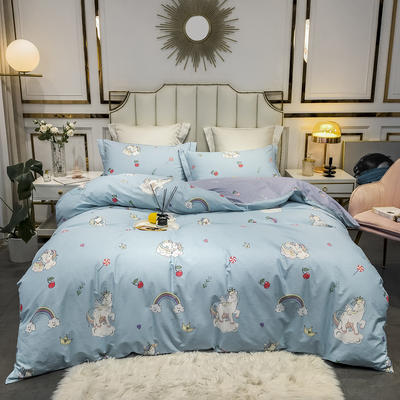 2020新款40匹马棉活力炫彩系列 1.5m(5英尺)床 米多奇-蓝