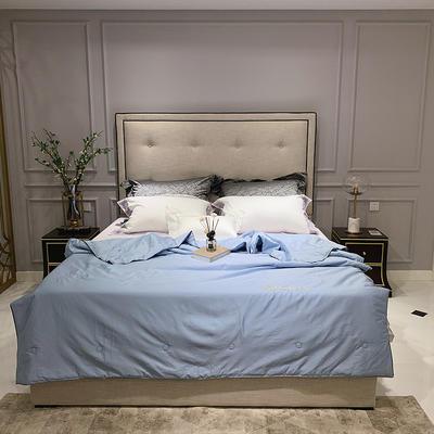 2020新款60长绒棉绣花夏被 200X230cm 挪威蓝