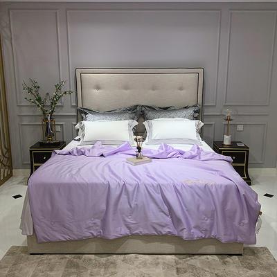 2020新款60长绒棉绣花夏被 200X230cm 香芋紫