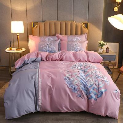2020款全棉生态磨毛--艺术美学系列 1.8m(6英尺)床 绘心 粉