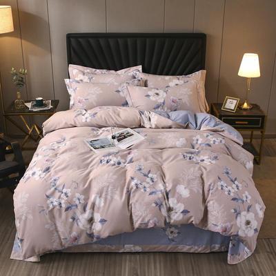 2020款全棉生态磨毛--艺术美学系列 1.8m(6英尺)床 图尔花开 玉 只剩加大