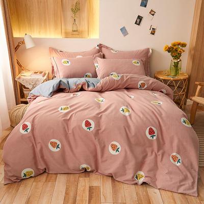 2020款全棉生态磨毛--漫调时光系列 1.8m(6英尺)床 草莓