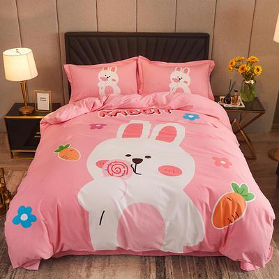 2020款全棉生态磨毛--漫调时光系列 1.8m(6英尺)床 吉米兔