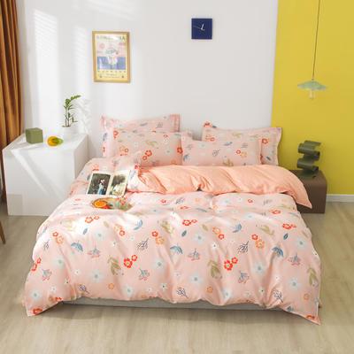 2020秋冬暖肤斜纹加厚磨毛 1.5m(5英尺)床 喜欢你 粉