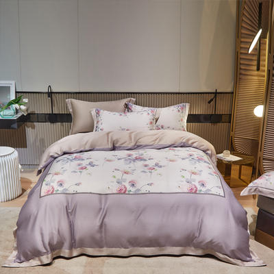 2021款60S莱赛尔天丝四件套大版系列 1.8m(6英尺)床 缘梦