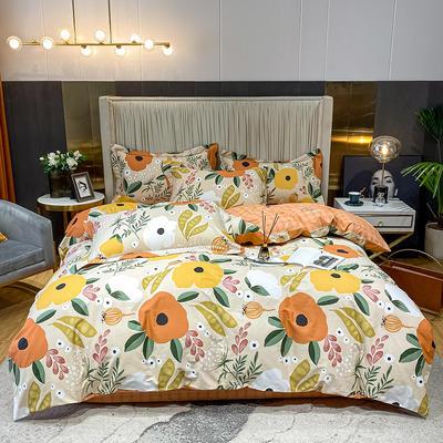 2021款40支铂金棉(全棉活性13376) 1.8m(6英尺)床 花团锦簇