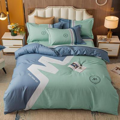 2021款40支铂金棉大版系列 1.8m(6英尺)床 潮流 蓝灰