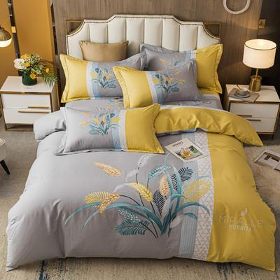 2021款40支铂金棉大版系列 1.8m(6英尺)床 大麦 黄