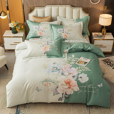 2021款40支铂金棉大版系列 1.8m(6英尺)床 明花之影 绿