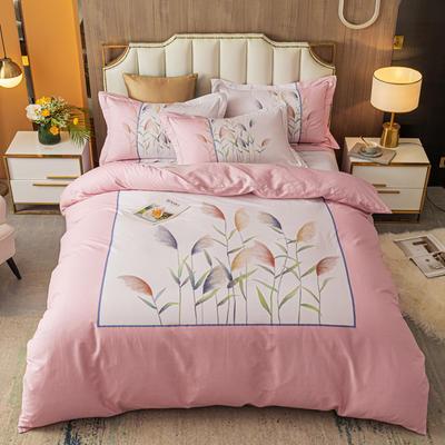 2021款40支铂金棉大版系列 1.8m(6英尺)床 一米阳光 粉