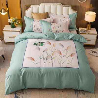 2021款40支铂金棉大版系列 1.8m(6英尺)床 一米阳光 绿