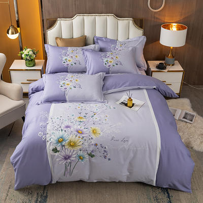2021款40支铂金棉大版系列 1.8m(6英尺)床 梦幻紫嫣