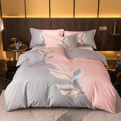 2021秋冬新款全棉生态磨毛时尚大版系列 1.8m床单款四件套 罗拉 豆沙