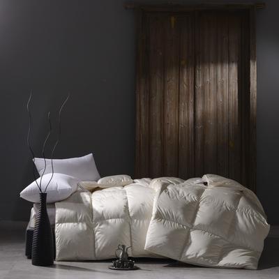 2018新款-棉+木代尔水洗鹅绒被被子被芯 200X230cm2.5斤 施华洛