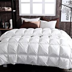 2018新款-奢华面包水洗白鸭绒被被子被芯 200X230cm2.6斤 白色
