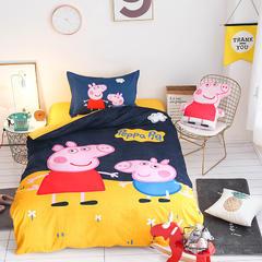 卡通活性磨毛三件套 标准(1.5m床) 磨毛小猪佩佩