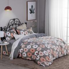 6D雕花绒四件套系列 标准(1.5m床/1.8m床) 花儿朵朵-桔