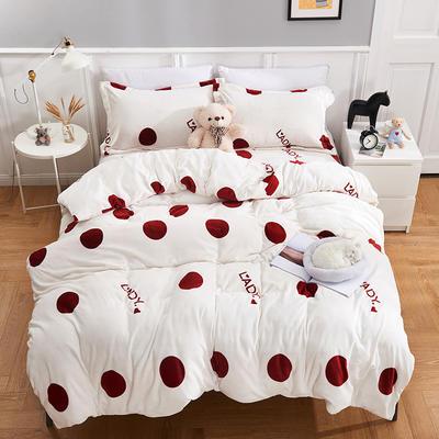 2019新款-养生绒牛奶绒印花四件套 床单款1.5m(5英尺)床 英伦风尚