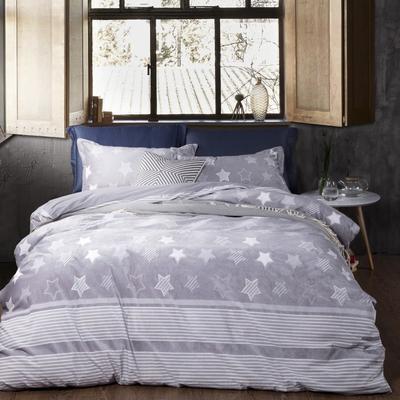 2020新款冬季-高克重牛奶绒水晶绒雕花绒四件套绒类套件 床单款四件套2.0m(6.6英尺)床 时空爱恋-灰