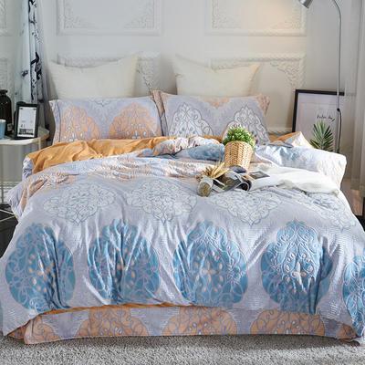 2020新款冬季-高克重牛奶绒水晶绒雕花绒四件套绒类套件 床单款四件套2.0m(6.6英尺)床 四季风情-灰