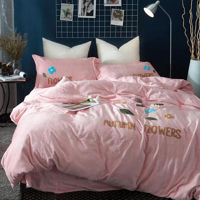 2020新款冬季-安哥拉绒牛奶绒宝宝绒绒类四件套 床单款四件套1.5m(5英尺)床 伊诗曼-玉