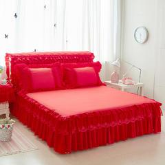 优美床裙 150cmx200cm 大红