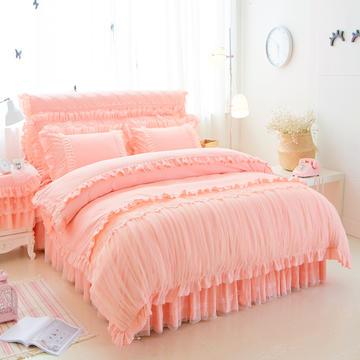 优美四件套 床裙款 1.5m(5英尺)床 玉色