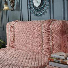 维也纳系列 水晶绒床头罩 1.5米 粉玉色