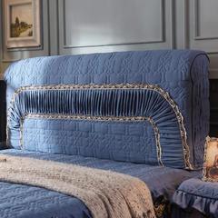 巴黎之夜系列 2018新款巴黎之夜床头罩 2.2米 巴黎之夜-宝蓝色
