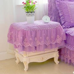 梦幻系列 2018新款梦幻床头柜罩 50*60cm 紫色