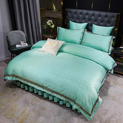 2021新款宝格丽系列床裙四件套 1.8m床裙款四件套 宝格丽-薄荷绿