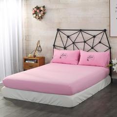 梦博妮单品系列 单品水洗棉床笠 配套枕套/个 粉色