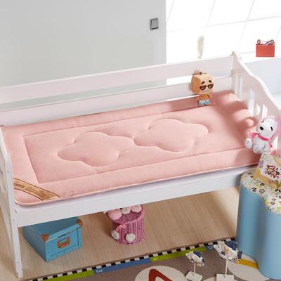 4D立体珊瑚绒幼童床垫 儿童床褥 幼儿园床垫 60*135cm粉色