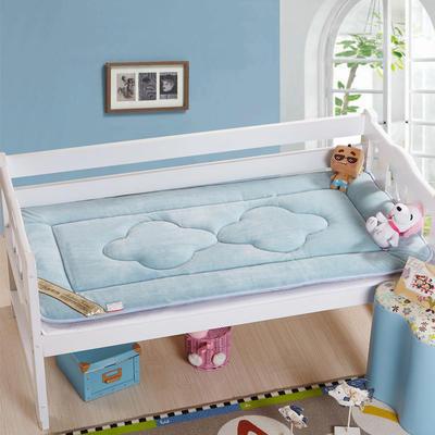 4D立体珊瑚绒幼童床垫 儿童床褥 幼儿园床垫 60*135cm蓝色