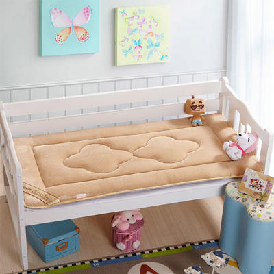 4D立体珊瑚绒幼童床垫 儿童床褥 幼儿园床垫 60*135cm驼色