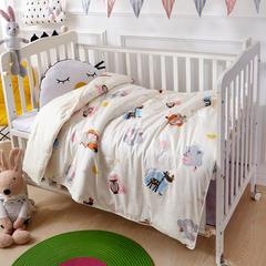 御棉坊60支贡缎长绒棉棉花被婴幼儿包被儿童被子冬被被芯 100x130cm/1.5斤 动物派对