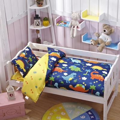 AB版幼儿园三件套幼儿园被子婴童三/六件套 丝绵款六件套 恐龙乐园