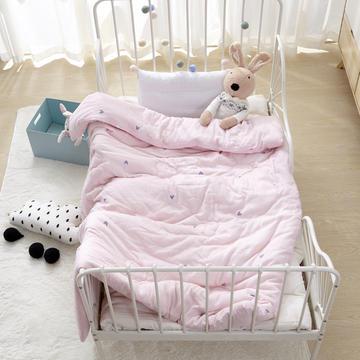 全棉双层纱布棉花被 婴幼儿包被 儿童被子冬被春秋被芯