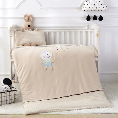 儿童彩棉被子 活套被 婴童被 被套 被芯 单独被套+丝绵被芯 LOVE猴