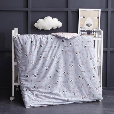 全棉13372 AB版系列幼童可拆洗被子(被套+被芯 ) 单独被套+丝绵双胆被芯 八哥兔