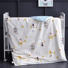 全棉13372 AB版系列幼童可拆洗被子(被套+被芯 第二批) 单独被套+棉花双胆被芯 火烈鸟-米